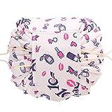 OMGD Casual Waterproof Women Toiletry Bags Folding Large Capacity Lazy Cosmetic Bags Kiss