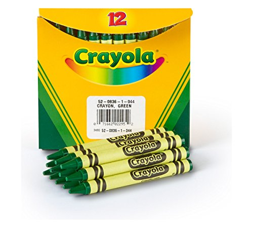 Crayola CRA-52-0836-044 Bulk Crayons , Green, Pack of 12 -