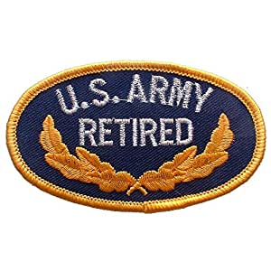 U.S. Army Retired Patch Blue & Yellow 3""