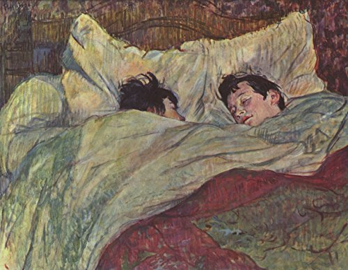 Henri Toulouse Lautrec - in Bed - Large - Semi Gloss - Unframed Vintage Wall Art Poster Picture Giclee Artwork Modern Contemporary & Fine Art Print ()