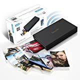 SereneLife Portable Instant Mobile Photo Printer – Wireless Color Picture Printing from Apple iPhone, iPad or Android Smartphone Camera – Mini Compact Pocket Size Easy for Travel – PICKIT22BK (Black)