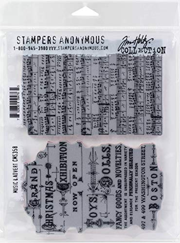 Stampers Anonymous CMS358 ClingStamp TH Music & Advert