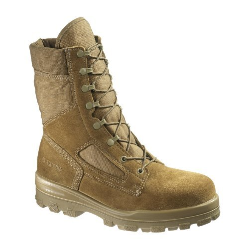 Bates Men's E70701 Durashock Steel Toe Safety Boots, Tan, 12.5 (Safety Tan Boot Toe)