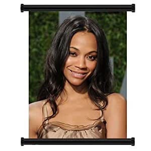 Zoe Saldana Actress Fabric Wall Scroll Poster (32x42) Inches