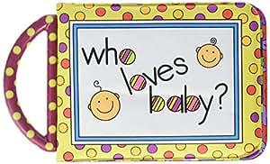 Amazon Com Sassy Who Loves Baby Photo Album Book With
