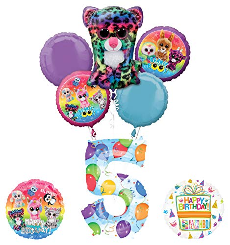 (Mayflower Products Beanie Boos 5th Birthday Party Supplies Balloon Bouquet)