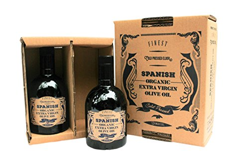 Spanish 100% Organic Extra Virgin Olive Oil - 2 Bottle Box (33.8 fl oz) from GringoCool