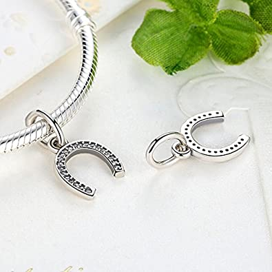 a3a5dcc018ba0 cheap pandora symbol of luck horseshoe with clear cz pendant