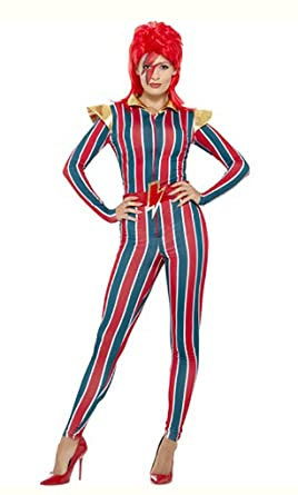 Amazon.com Faerynicethings Adult Size Female Space Superstar Costume - David Bowie Ziggy Stardust Clothing  sc 1 st  Amazon.com & Amazon.com: Faerynicethings Adult Size Female Space Superstar ...