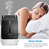 URPOWER MH501 Humidifier, 5L Large Capacity Whisper-quiet Operation Cool Mist Ultrasonic Humidifier Waterless Auto Shut-off with Adjustable Mist Mode for Home Bedroom Babyroom Office