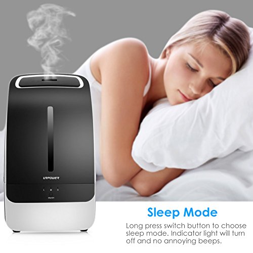 Large Product Image of URPOWER MH501 Humidifier, 5L Large Capacity Whisper-quiet Operation Cool Mist Ultrasonic Humidifier Waterless Auto Shut-off with Adjustable Mist Mode for Home Bedroom Babyroom Office
