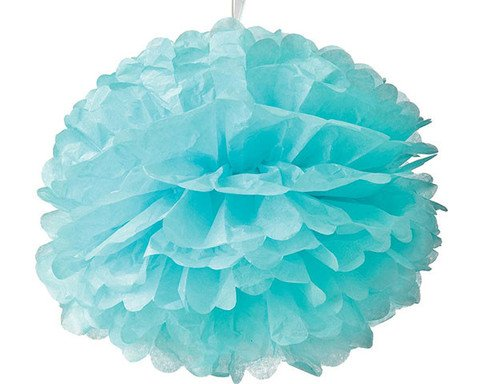 Light Blue Wedding Tissue Paper Flower Pom Poms (10