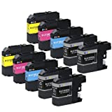 E-Z Ink (TM) Compatible Ink Cartridge Replacement for Brother LC107 LC-107 XXL LC105 LC-105 XXL Super High Yield (4 Black, 2 Cyan, 2 Magenta, 2 Yellow) 10 Pack