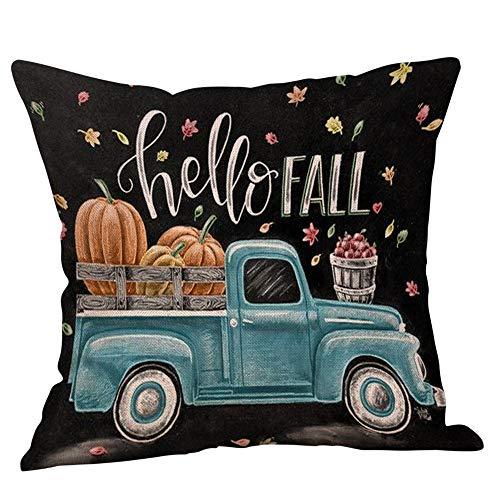 Halloween Pillowcases Sale KIKOY Retro Pumpkin Cars Printing Sofa Cushion Cover Home Decor
