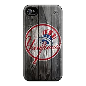 New Arrival Premium 4/4s Cases Covers For Iphone (new York Yankees Wooden Hd)