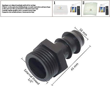 Conector de manguera recto con rosca, accesorios de jardín para riego por goteo, conector de tubería de PVC, 5 unidades: Amazon.es: Bricolaje y herramientas