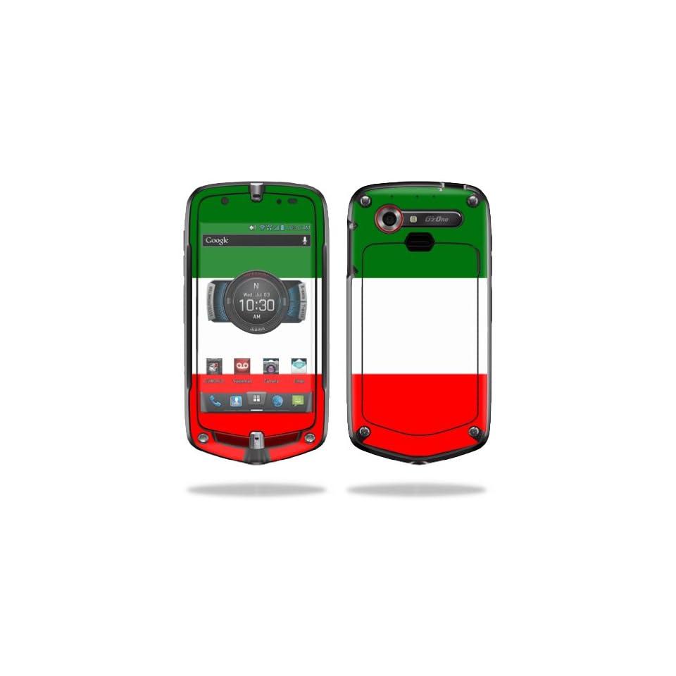 Mightyskins Protective Vinyl Skin Decal Cover for Casio GzOne Commando 4G LTE C811 GZ1 Verizon Cell Phone wrap sticker skins Italian Flag
