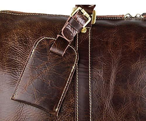 0a3ca7c56e23 Amazon.com: AYMMY Leather Luggage Bag Ultra Light Wheeled Trolley ...