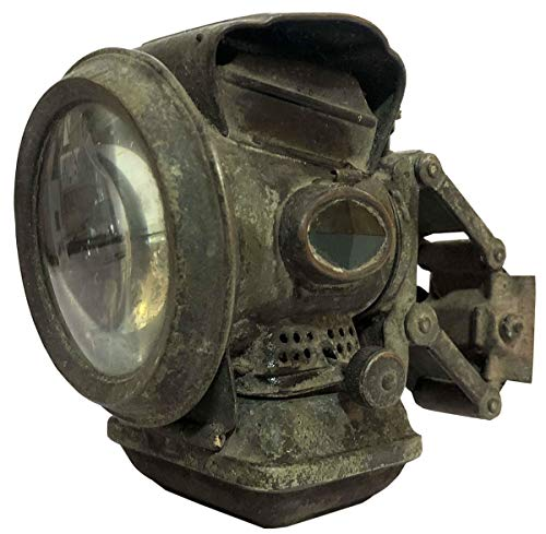 Antiques World Antique Stunning Classic Vintage Rare Jos. Lucas Club New Holophote Birmingham Silver King Bicycle Oil Lamp Lantern Light Made in England AWUSAML 074