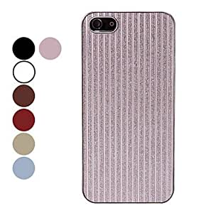 LZXExquisite Stripe Design Glitters Shining Hard Case for iPhone 5/5S (Assorted Colors) , Pink