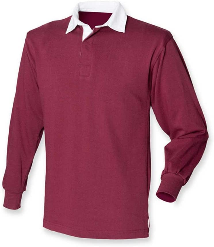 Front Row Mens Long Sleeve Casual Cotton rugby shirt