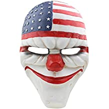 CCOWAY Payday 2 Mask For Masquerade, Halloween, Christmas, Birthday and Prom ect Party