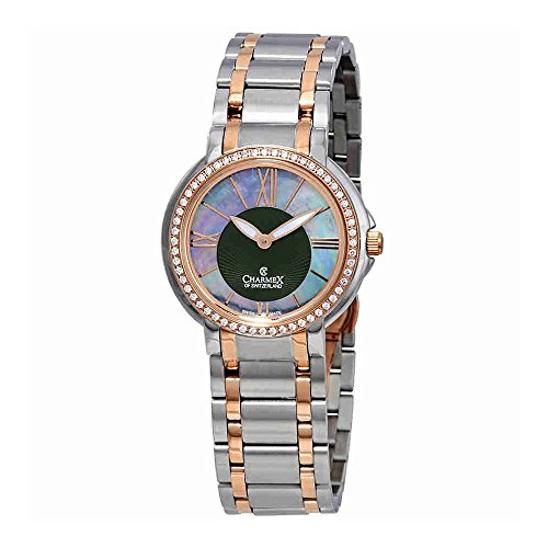 Charmex Crystal Mother of Pearl Dial Two-Tone Ladies Watch 6429