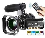 Best high zoom camcorder - 4K Camcorder, Ansteker Ultra-HD 1080P 24MP 30FPS Digital Review