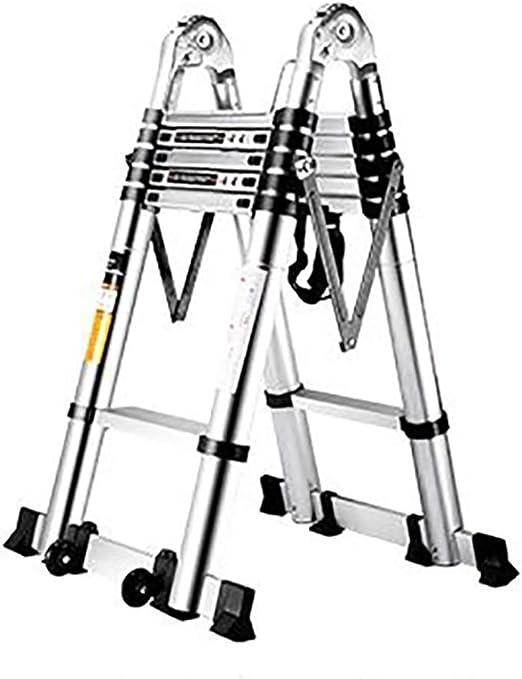 WYNZYYX Escalera Escalera Telescópica Escaleras Elevadoras Multifunción Escalera De Ingeniería, Escaleras Plegables con Ruedas Escalera Extensible De Aleación De Aluminio For El Hogar (Size : 6.6m): Amazon.es: Hogar