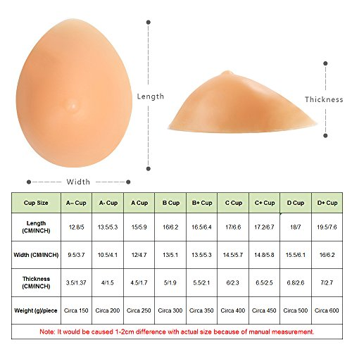 MaxTara-Silicone-Breast-Forms-Mastectomy-Prosthesis-Crossdress-Transvestite-Bra-Enhancer-Inserts-One-Piece-A-B-C-D-Cup