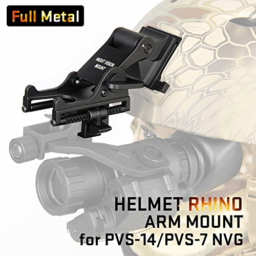 Mount Rhino (Canis Latran Night Vision Goggle (NVG) Rhino Mount for PVS-7, PVS-14, PASGT.M-88 & MICHI-2000 Helmet Black)