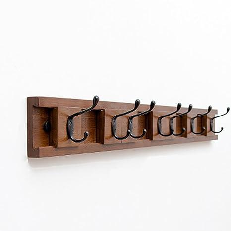 DFHHG® Perchero, gancho de madera en la pared detrás de la ...