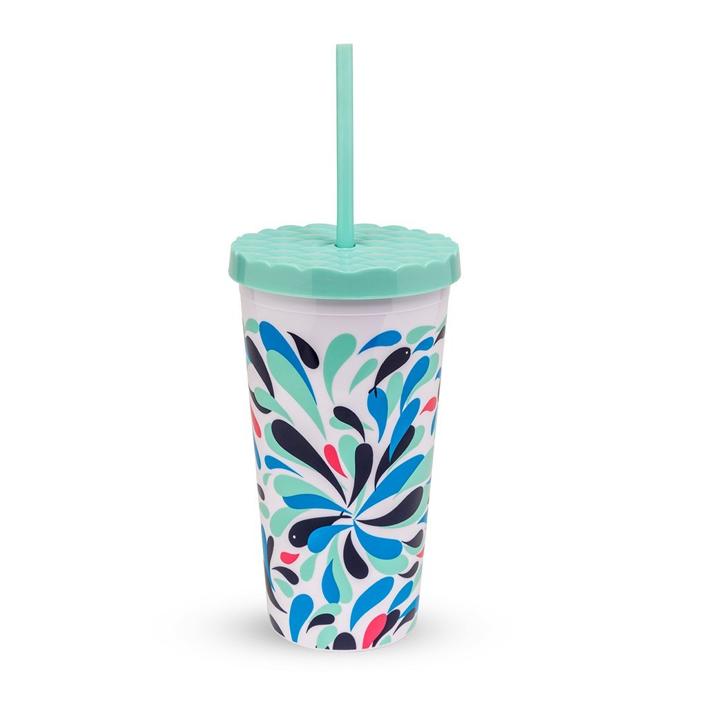 Amazon.com: Vera Bradley Travel Tumbler with Straw (Ikat Bouquet ...