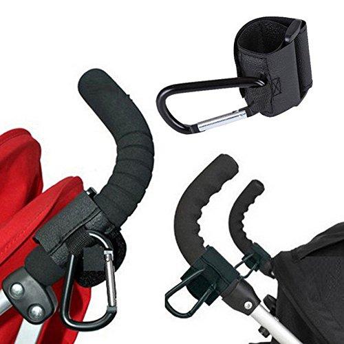 (MSOO Kids Baby Pushchair Stroller Pram Clip Hooks Shopping Bag Metal Hook Holder)