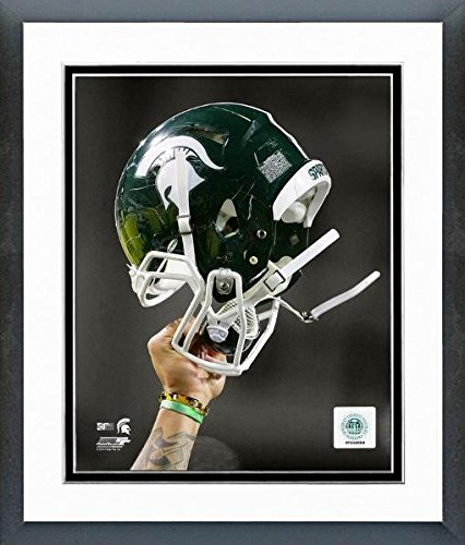 Michigan State Spartans Football Helmet Spotlight Photo (Size: 12.5