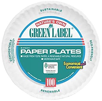 AJM AJMPP6GRE Green Label Paper Plates Microwavable 6\u0026quot; Diameter (10 Pack of  sc 1 st  Amazon.com & Amazon.com: AJM AJMPP6GRE Green Label Paper Plates Microwavable 6 ...