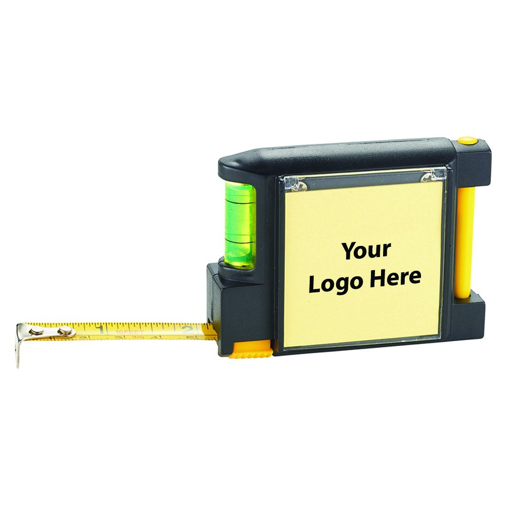 Work Mate 3 In 1 Tape Measure With Pad Pen And Leve - 144 Quantity - $3.45 Each - PROMOTIONAL PRODUCT / BULK / BRANDED with YOUR LOGO / CUSTOMIZED by Sunrise Identity (Image #1)