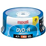 Maxell 16X Write-Once DVD-Rs and DVD+Rs MXL-DVD-R/25