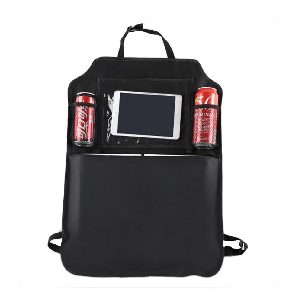 Backseat organizer, kick Mat per auto sedile posteriore impermeabile portaoggetti da appendere tasca trasparente con supporto per tablet, 2 tasche a rete e grande tasca con cerniera per bambini da viaggio film Pawaca