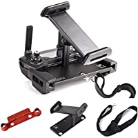 Kuuqa Aluminum-Alloy Foldable Tablet Stand Holder Extender with Controller Stick Thumb Clip and Lanyard for Mavic Pro Dji Spark Remote Controller Device (DJI Mavic Not Included)