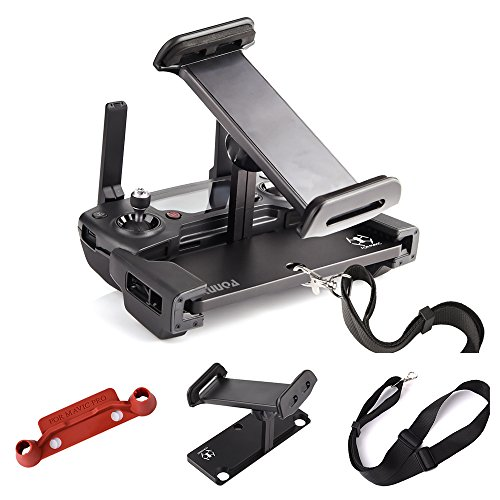 KUUQA Aluminum-Alloy Foldable Tablet Stand Holder Extender with Controller Stick Thumb Clip and Lanyard for Mavic Pro/Mavic Air/Dji Spark Remote Controller Device (DJI Mavic Not Included)