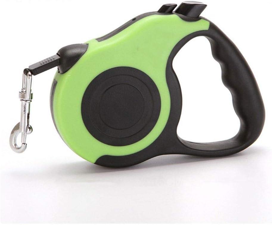 自動伸縮牽引ロープペット犬のチェーンは快適でウェアラブルペット自動牽引ロープを感じます (Color : Green, Size : 3m)
