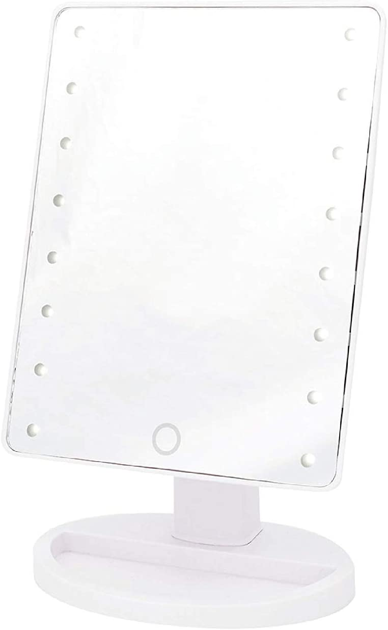 DANIELLE LED Hollywood Mirror Trifold Oversized -12 x 18.5 x 14.5 inch, White