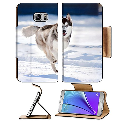 liili-premium-samsung-galaxy-note-5-flip-pu-leather-wallet-case-cute-funny-dog-hasky-running-in-wint