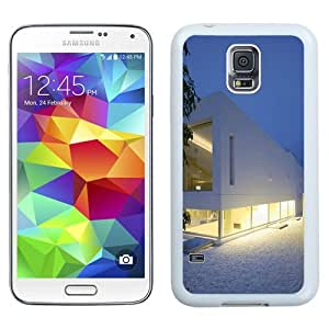 NEW Unique Custom Designed Samsung Galaxy S5 I9600 G900a G900v G900p G900t G900w Phone Case With White House On The Beach_White Phone Case