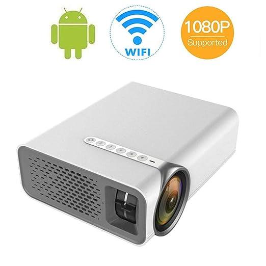 DAETNG Proyector Mini portátil HDMI 1080P con Soporte Pantalla de ...
