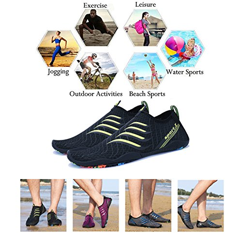 Men black Water Shoes PENGCHENG Swim Sports Skin Aqua Dry Beach G6 Quick Women Barefoot Socks UtB6xqwB
