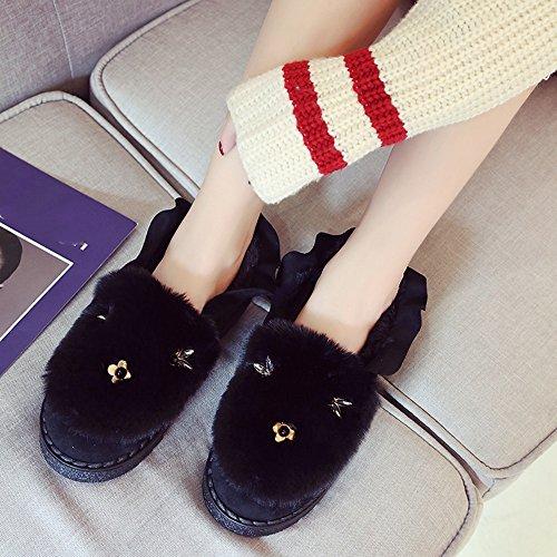 Color C de Zapatos Zapatos los ocasional algodón Aumentado mujeres A las Cómodo Color Zapatos guisantes señoras opcional Chanclas de plano Opcional 3 las de de Tamaño 36 Tamaño OUwXCpq7x