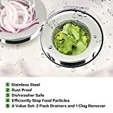 """2 Pieces Kitchen Sink Drain Strainers Stainless Steel 
