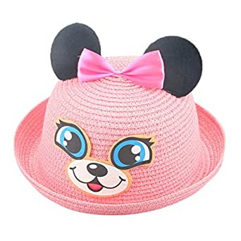 5457fa1b303 Amazon.com  SMALLE Clearance Summer Baby Hat Cap Children Breathable Rabbit  Hat Straw Hat Kids Hat Boy Girls Hats (50-54cm(Head Circumference)